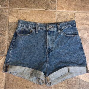 UO Denim Mom Shorts